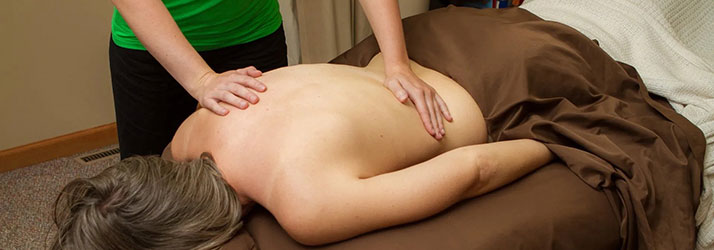 Chiropractic Lake Geneva WI Patient Getting Massage